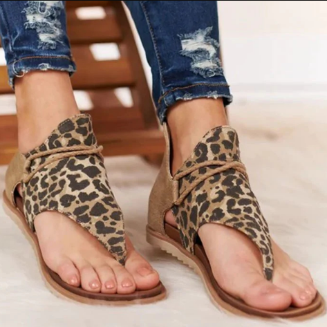 Women Sandals Leopard Pattern Sandals Women's Anti Slip Hot Selling Wedges Shoes