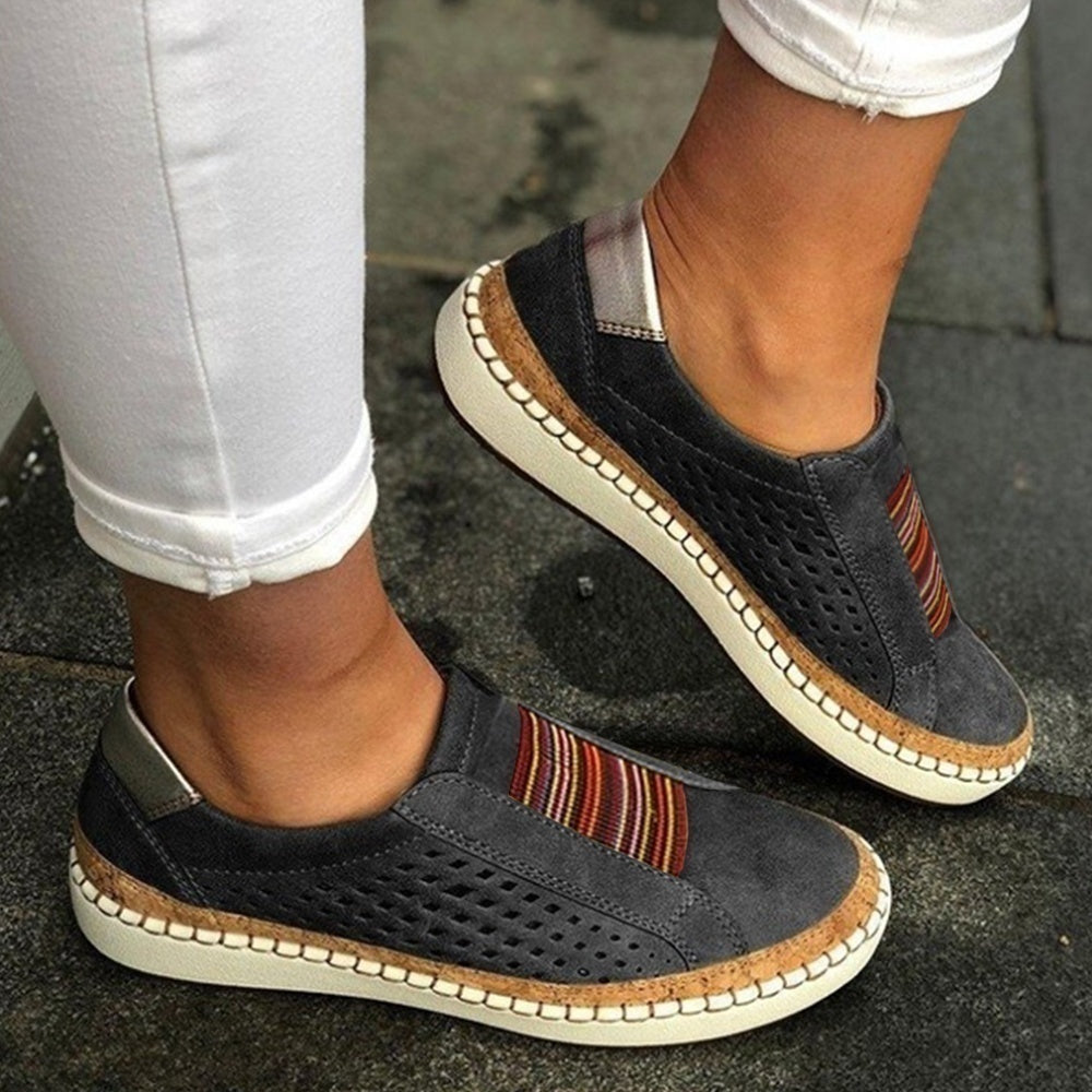 Breathable Hollow Out Flat Loafers Casual Round Toe Flats Shoes Comfortable Sneakers