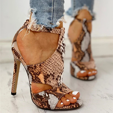 Women Pumps Snake Wedding Shoes Sandals Low Heel Shoes Gladiator Shoes Women Designers
