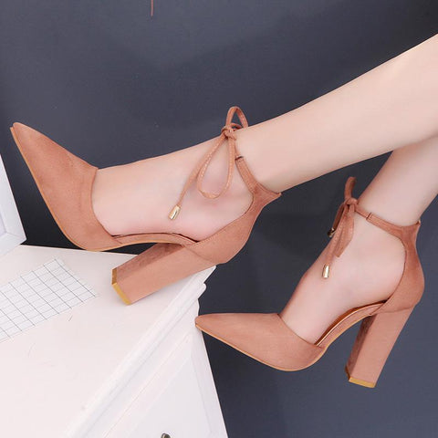Pointed Toe Fashion Women Strappy High Heels Shoes