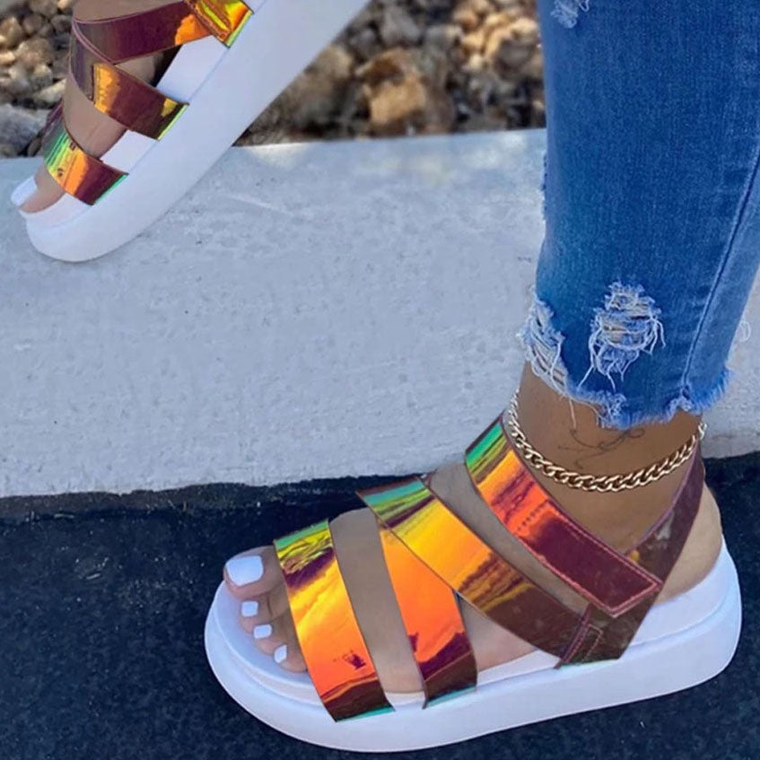 Luxury New Ladies Platform Sandals Colorful Wedges Sandals Women Gladiator Shoes Woman