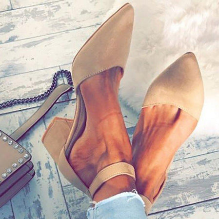 Ladies Girls Sexy Party Bandage Ankle Strap Sandals Shoes Women Pointed Toe Flock High Heels Sandals Shoes