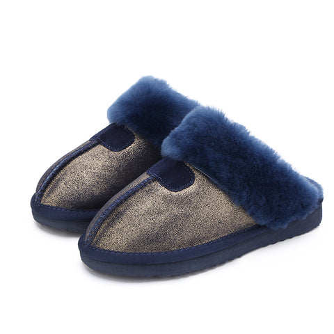 Fashion Warm Shoes Natural Fur Slippers Home Shoes Suede Slippers Indoor Shoes Wool Slippers