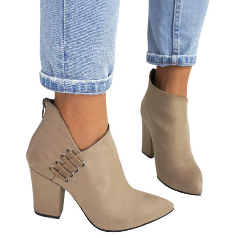 New Women Shoes Ankle Sexy Boots Short Boots High Heel Fashion Pointed Shoes