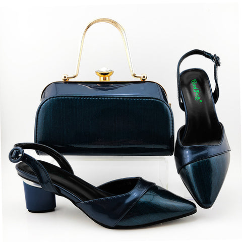 New Design Shoes And Bag To Match Set High Heels Party With Mature Style