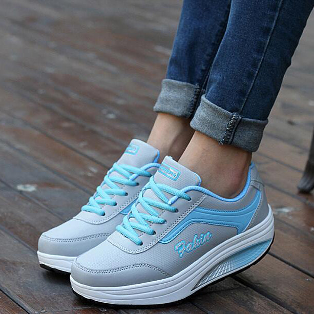 Sneakers High Platform  Casual Shoes Basket Wedges Trainers