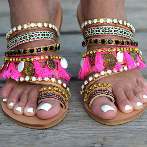 Female Slippers Women Flip Flops Shoes Rhinestone Beach Shoes Female Flip Flops Women Leisure Slippers
