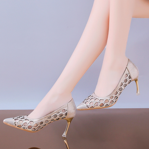 Sexy Designer Heels Wedding Shoes Pumps Women Shoes Crystal Shoes Women Low Heels Dress Party Shoes Female High Heels