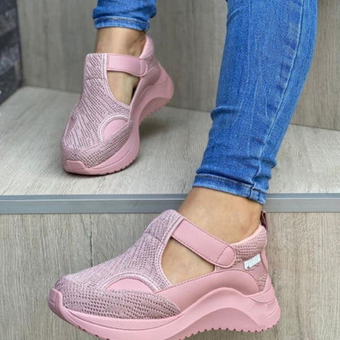 New Platform Sneakers Shoes Thick Bottom Sneakers Genuine Mesh Sneakers Trainers Flat Shoes