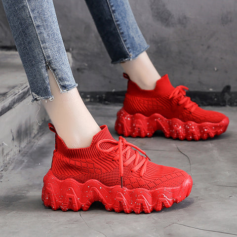 Sneakers Chunky Shoes For Women Casual Shoes High Top Sneakers