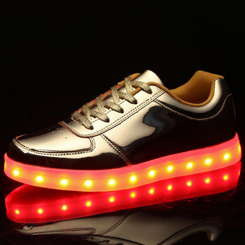 USB Chargering Shoes Adults Light Up Sneakers For Glowing Party Shoes