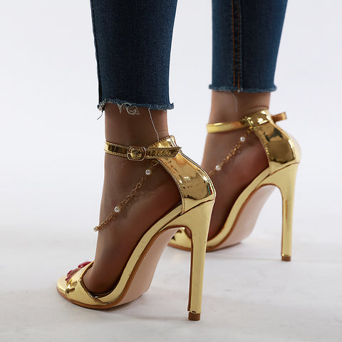 Women High Heels Shoes Strappy Buckle Strap Sandals Gladiator Sandals Women Shoes