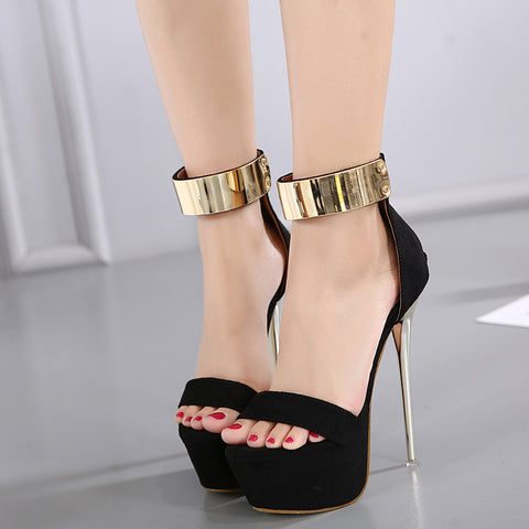Ankle Strap Heels Platform Sandals Party Shoes For Women Wedding Pumps High Heels Sequined Gladiator Sandals