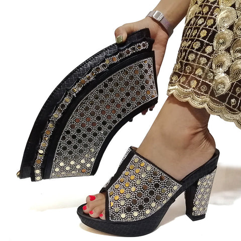 Shoes And Bag Matching Set With Hot Selling Women Design Shoes And Bag Set For Party Wedding