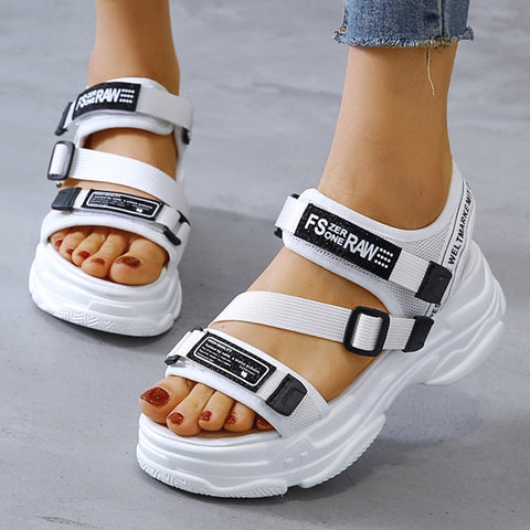 Height Flat Platform Sandals Thick Bottom Women's Fashion Shoes Woman
