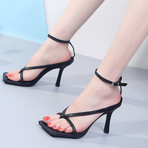 Women's High Heels Ankle Strap Shoes Women's Roman Slippers Party High-end Slippers Women's High-heeled Shoes