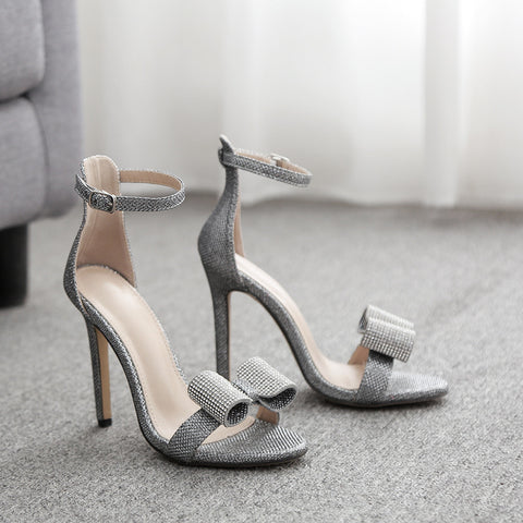 Fashion Women Sandals Casual Buckle Strap Thin Heels High Heels Open Toed Women Shoes Sexy Pumps
