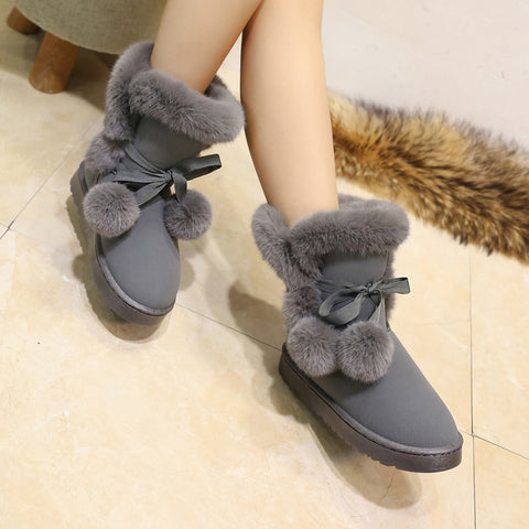 Quality Woman Boots Round Toe Yarn Elastic Ankle Boots Thick Heel Flat Heels Shoes Woman Female Socks Boots