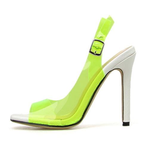 Transparent Buckle Strap Thin High Heels Sandals Peep Toe Gladiator Women Sandals Shoes New Pumps