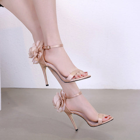 Women Sandals Stiletto High Heel Shoes Ankle Strap Sexy Pump Party Wedding Shoes