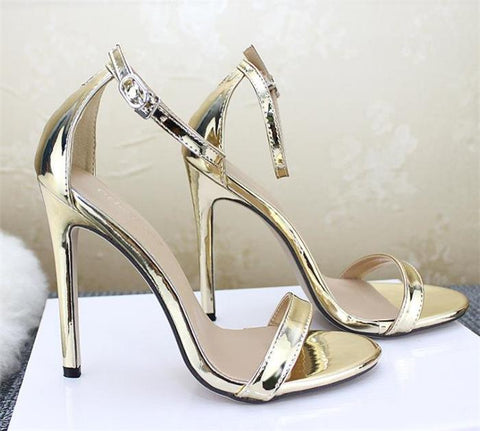 Fashion Ankle Strap Peep Toe Sandals High Heels Shoes