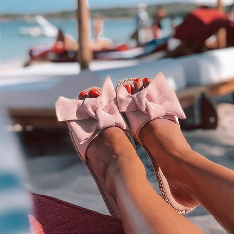 Fashion New Slippers Women Torridity Bow Torridity Sandals Slipper Indoor Outdoor Flops Beach Shoes Female Fashion Shoes