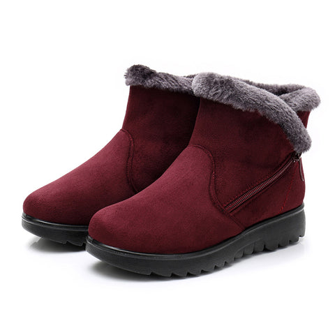 Snow Boots Warm Short Fur Plush Ankle Boots Platform Boots Comfortable Drop Shipping