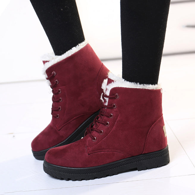 Women Boots Ankle Boots For Women Shoes Female Snow Boots Warm Plush Shoes Woman