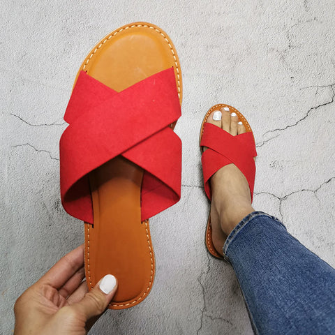 Sandals For Women Wild Flat With Women Casual Outdoor Shoes Large Size Female Sandals Women Slippers Beach Shoes