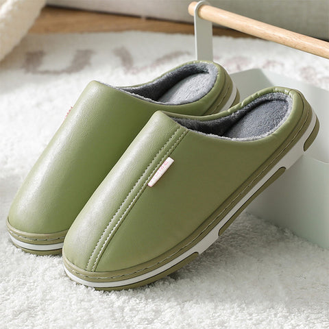 Slippers Couple Shoes Short Plush Warm Casual Non Slip Soft Warm House Slipper Indoor Bedroom Fashion New