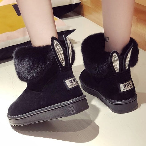 Women Boots Shoes Warm Round Toe Casual Female Snow Boots