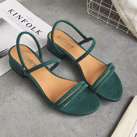 Slippers Women Sandals Blue Shoes Flats Heel Flip Flip Flop Sandals Women Shoes Woman Back Strap