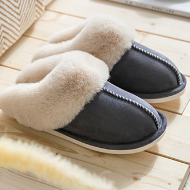 Plush Warm Home Flat Slippers Lightweight Soft Comfortable Slippers Cotton Shoes Indoor Plush Slippers