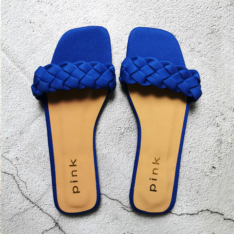 Flat With Twist Fashion Slippers Comfort Outside Beach Shoes Ladies Slides Women Sandals