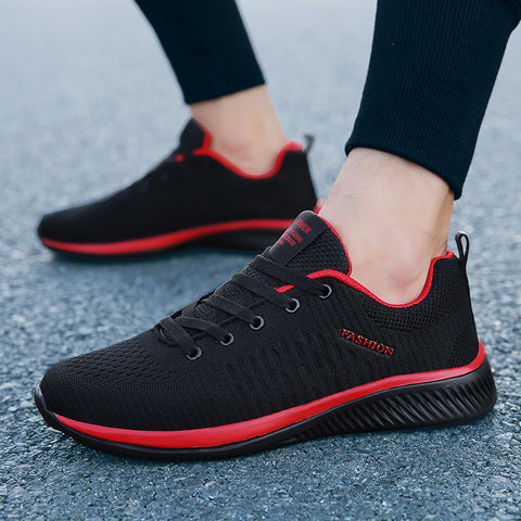 Mesh Casual Shoes Lace-up Shoes Lightweight Breathable Walking Sneakers Flat