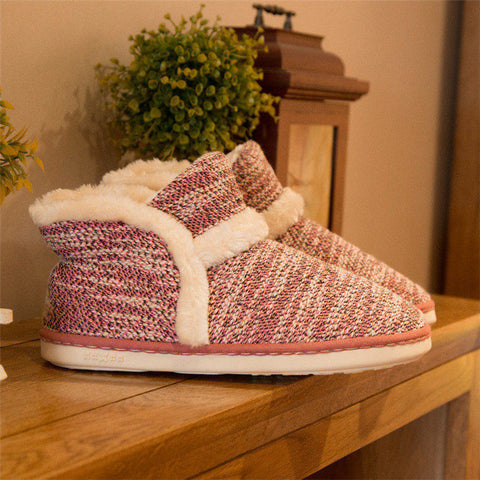 Warm Home Slippers Adult Household Slipper Soft Non Slip Short Plush Indoor Floor Shoes