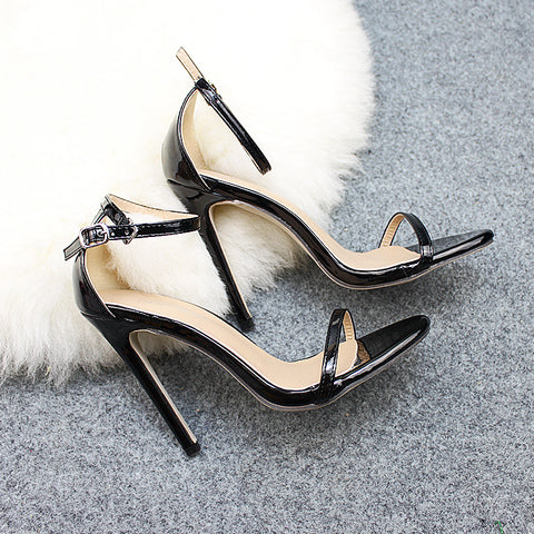 Fashion Style New Design High Heels Buckle Sandals Sexy Party Shoes Women Heeled Female