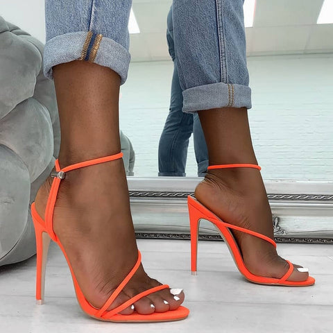Women Sandals Ankle Strap High Heel Shoes For Women Sexy Peep Toe High Heels Sandals Party Wedding Shoes Woman
