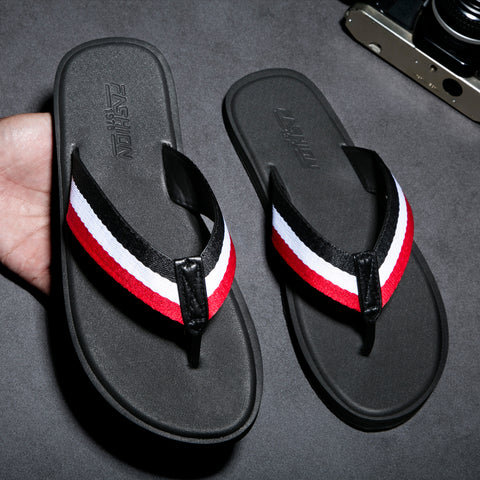 Men Rubber Slippers Handmade Flip Flops For Men Comfortable Breathable Beach Classic Casual Flats Men Luxury Shoes