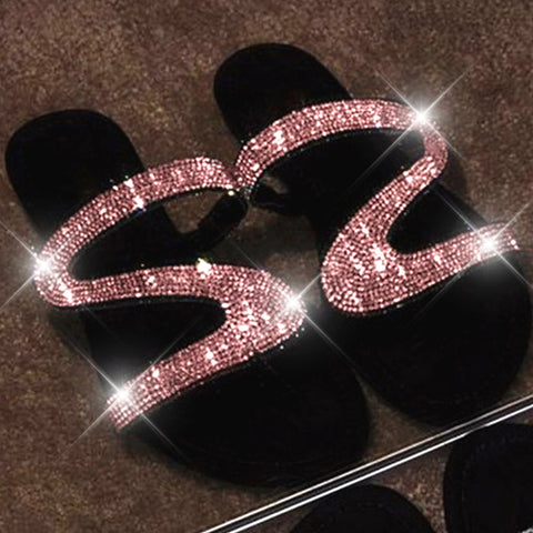 Women Flat Bling Slippers Transparent Soft Jelly Shoes Female Flip Flops Sandals Outdoor Beach Ladies Slides