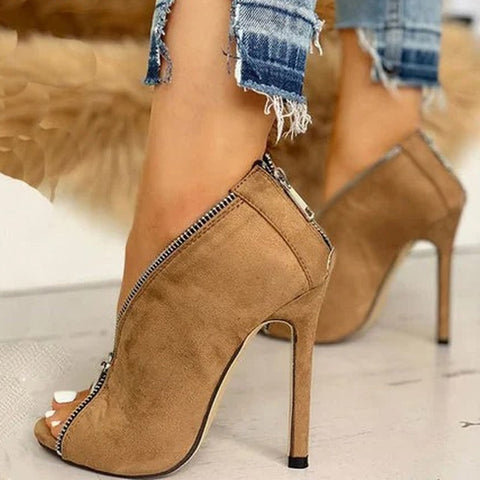 Women  Pumps Office High Heels Woman Peep Toe Shoe Sexy Party Wedding Sandals Female