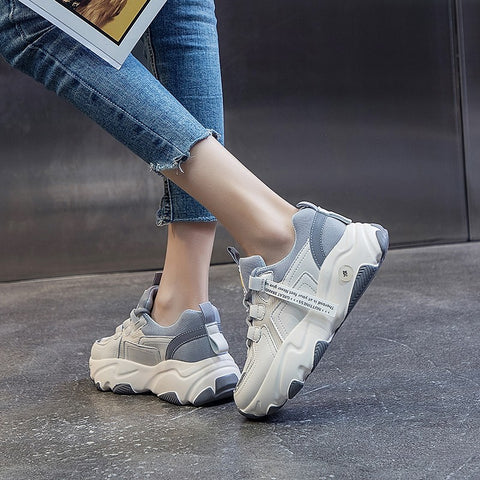 Hip Hop Chunky Sneakers Basket Casual Platform Shoes