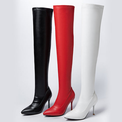 New Sexy Over The Knee Boots Women Thin High Heels Thigh High Lady Boots Shoes Woman