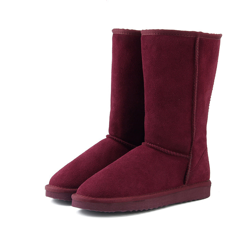Genuine Leather Fur Snow Boots Top High Quality Boots Boots For Warm