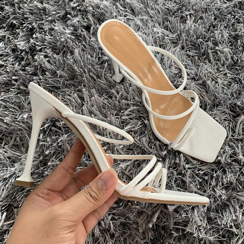 Pumps New Sexy Gladiator Sandals Shoes Women Thin High Heels Open Toe Sandal Lady Ankle Strap Pump Shoes