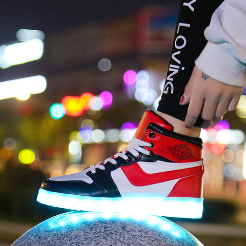 USB Charge Luminous Sneakers Shoes For Lighted Shoes With Lights Casual Shoes