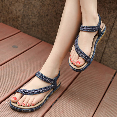 Women Flat Sandals Shoes Woman Flip Flop Crystal Casual Beach Sandals Female Gladiator Sandals