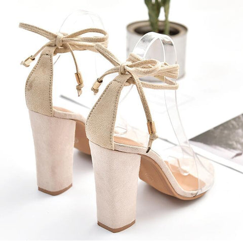 Strappy Women Fashion Fish Mouth Sandals High Heels Shoes