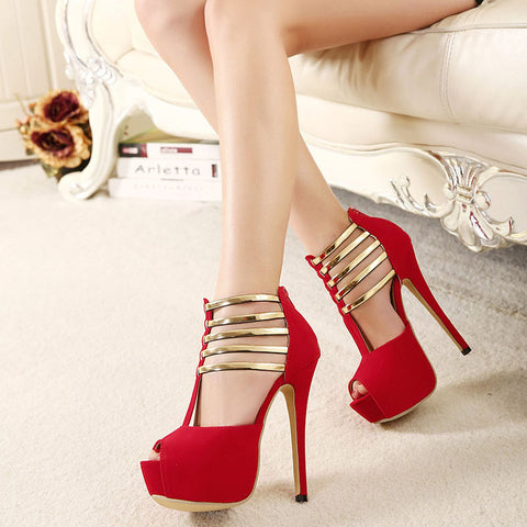 Sexy High Heels Women Shoes Platform Peep Toe Wedding Shoes Women Pumps Shoes Woman High Heel Shoes