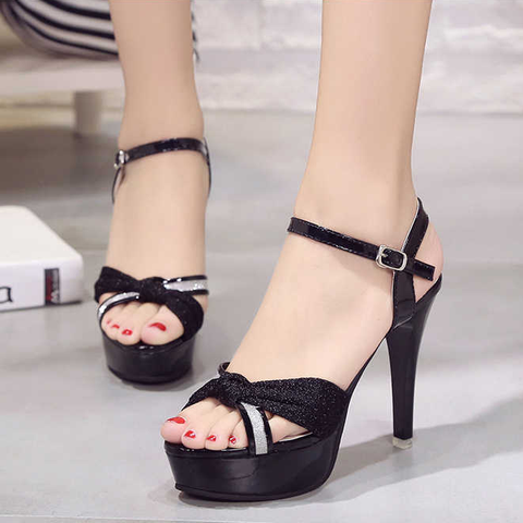 Women Sexy Shoes Woman Pumps High Heels Platform Fashion Comfortable Party Female Peep Toe Wedding